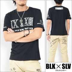 メール便送料無料【G.H.R NINE&THIRTEEN】70736Tシャツ黒銀L