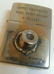 ZIPPO  ジッポ 実弾 弾丸 ピストルの弾 プロテクト モデル