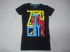wr488 女 ZOO YORK ズーヨーク 黒 半袖Tシャツ Sサイズ ★