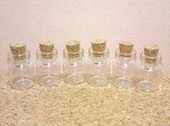 ミニガラス瓶6個コルク栓