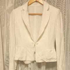 miss ashida 白色花柄刺繍ジャケット