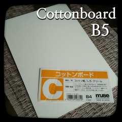 B5 コットンボード コットン紙 中目 イラストレーションボード 水彩エアブラシパステル