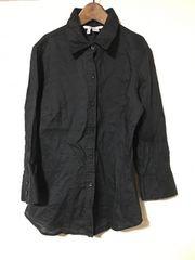 ZARA/ザラ/リネンブラックシャツ