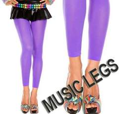 A190)MUSICLEGSレギンスオペークタイツ紫パープルB系ダンスダンサー衣装ストッキング