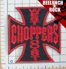 \250ワッペン:ウエストコーストチョッパーズ黒赤