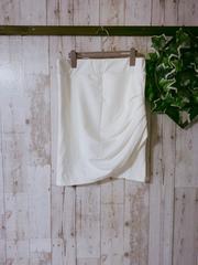 新品タグ付き*ドレープタイトスカート*3L4L*白 大きいサイズ