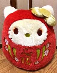 ■感謝祭!!ハロ-キティ*福を呼ぶだるまド-ルBIGタイプぬい*レッド■