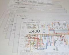 Z750B Z400FX Z550B Z400GP 配線図ラミネート済 即決