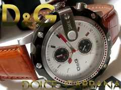 極美品【箱・保証書付】ドルガバ D&G クロノグラフ 腕時計