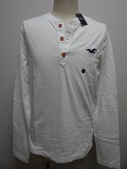 4292014 ホリスター メンズ ヘンリー長袖Tシャツ L