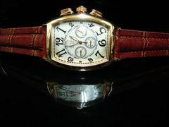 新品 腕時計 クロノグラフ風ゴールド/フランクミュラー好きに