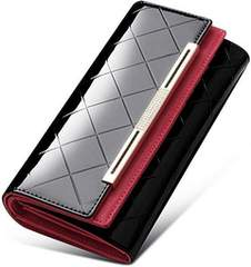 [Rockyu] 大容量 牛革 長財布 財布 レディース