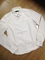美品NANO-UNIVERSE シャツ 日本製 グレー ナノユニバース