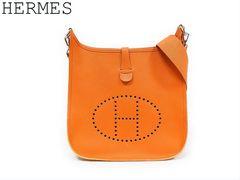 ■エルメス エブリン1 エヴリン1 PM エプソン オレンジ ショルダーバッグ □H刻印