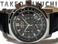 極上美品 タケオキクチ【TK】クロノグラフ メンズ腕時計