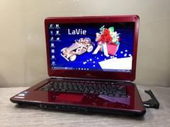 NECの赤い Lavie DVDマルチ Win10