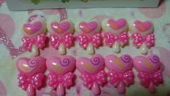 LOVEリボン付き可愛いキャンディ2色10個0×15�o程