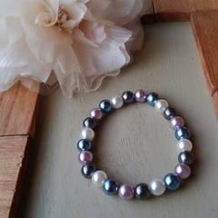 ブレスレット  真珠のるつぼ (手作り)