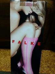 FALKE ハイソックス 新品 インポート ピンク×ベージュ