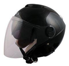【大人気】ダブルシールド構造安心のSG規格ジェットヘルメット ブラックフリーサイズ