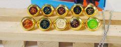 コスプレ道具 NARUTO風 ナルト 指輪10点セット 火影 忍者