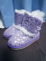 ディズニーミッキー総柄ブーツ★15cm★ファー付