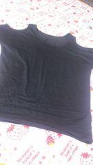 新品★肩開きシンプル( ・∇・)黒