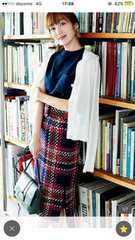 ミラオーウェン ツイードチェックタイトスカート 今期