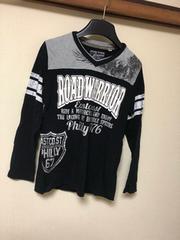 ロゴロンT/長袖Tシャツ/ブラック/160cm