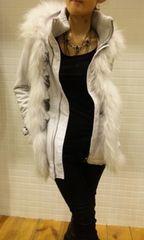美品■GILFYギルフィN3Bリアルファージャケットコート