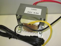 パチンコ、パチスロ用トランス 6.5A24V100Vコード付き