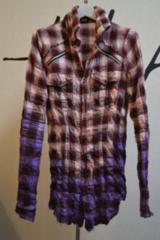 hyde着用 LGBルグランブルー グラデーションチェックシャツ 0