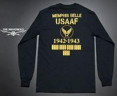 爆弾エアフォースモデル・USコットン長袖TシャツXL・黒・新品