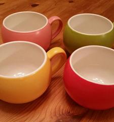 ◎カラフルスープカップ◎ピンク 赤 黄緑 黄色