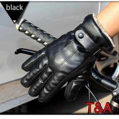 手袋 メンズ 革手袋 レザー 革 ツーリング バイク ブラック