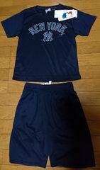 新品未使用メジャーリーグプラクティスTeeシャツ+ハーフパンツ/キッズ上下セットアップ140