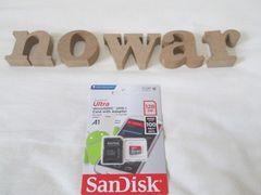 新品SANDISK microSDXCカード超高速128GB 対応SDアダプタ付属