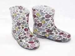 モンフレール レインブーツ 7008 16.0cm 花クマ 可愛い 長靴