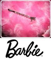 バービー髪留めピンどめ ピンク石付き 子供さんにも最適