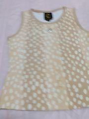 美品クレイサス38 ノースリーブTシャツ ベージュ