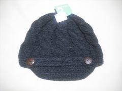 wb457 女 RIP CURL リップカール つば付き ニット帽 グレー