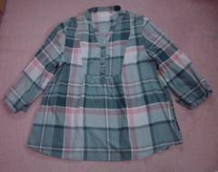 レディース トップス シャツ ゆったり 長袖 袖紐付き L