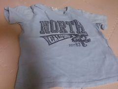 120 Merry GARDEN KIDS ブルーの半袖Tシャツ