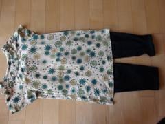 ホコモモラ可愛い丸柄ロングTシャツ