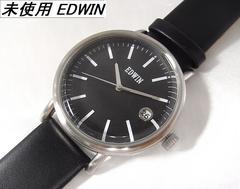 本物確実正規未使用エドウィンEDWINメンズ腕時計ブラック文字盤 rmb
