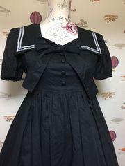 Victorian maidenギンガムドビースクウェアカラードレス(黒