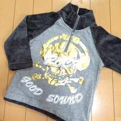 新品◆ゴールドドクロ◆ベロア長袖Tシャツ◆95スカル