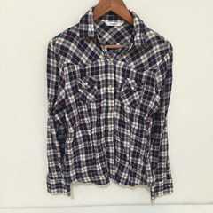 #チェックシャツ☆M