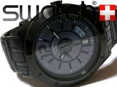 極レア 1スタ★スウォッチ【スイス製】お洒落な秒針 大型 腕時計