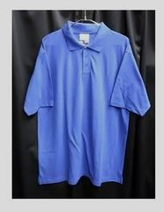 セール新品ビッグシルエット着回し抜群★ポロシャツブルー2XL無地
